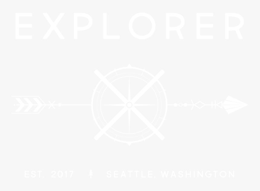 White Out Explorer X Logo Primary Logo - Johns Hopkins Logo White, HD Png Download, Free Download