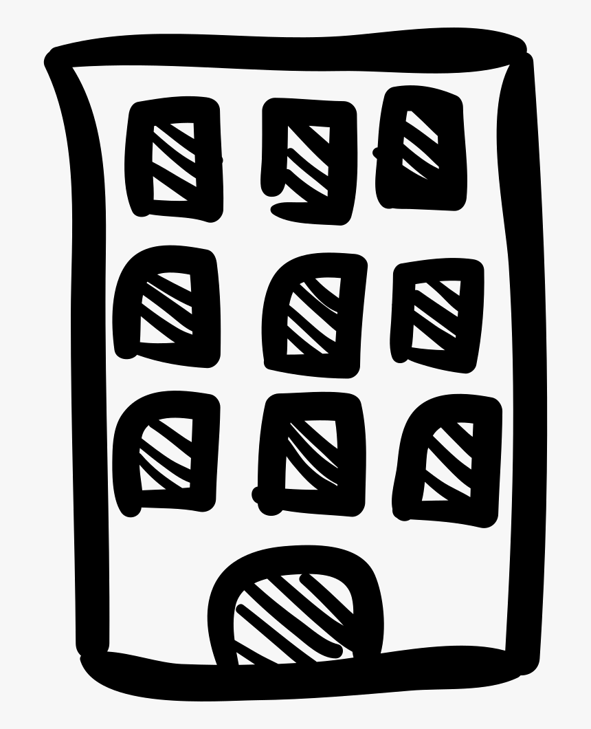 Building Hand Drawn Tower - Building Hand Drawn Png, Transparent Png, Free Download