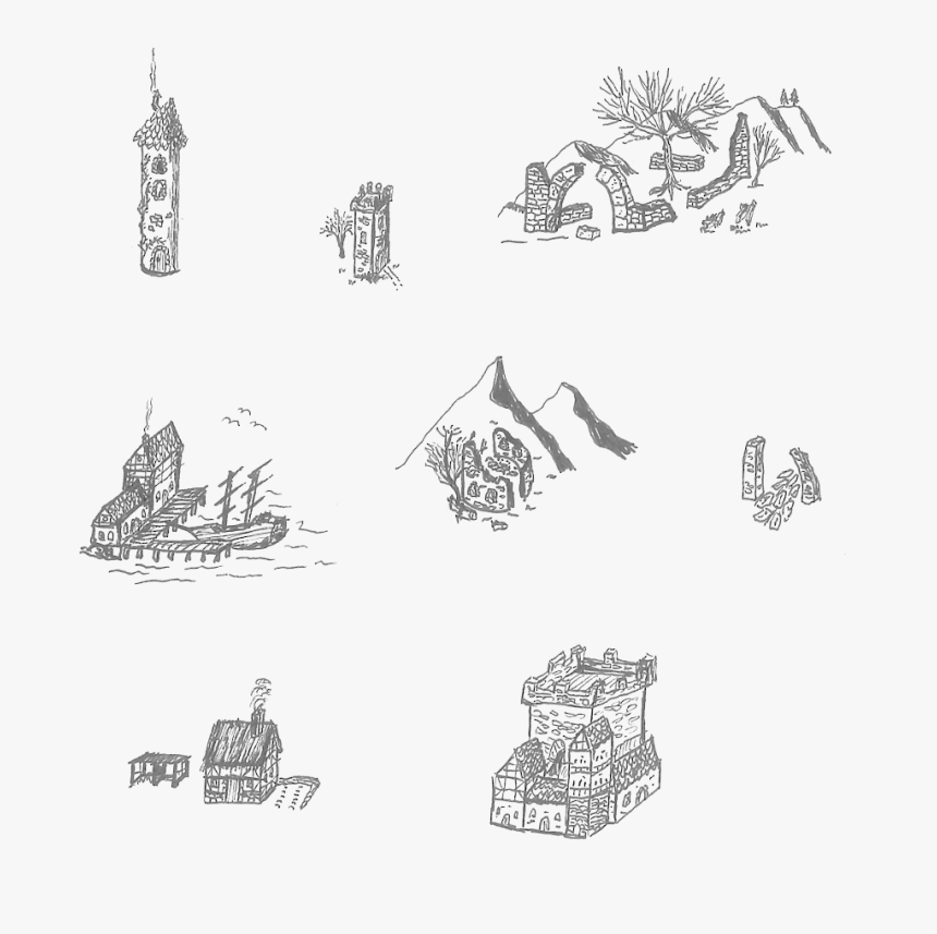 Hand Drawn Map Elements, HD Png Download, Free Download