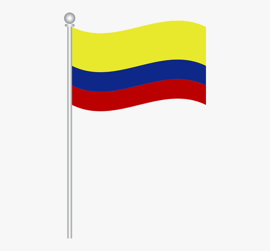 Flag Of Colombia, Flag, Colombia, World - Colombian Flag On Pole Png, Transparent Png, Free Download