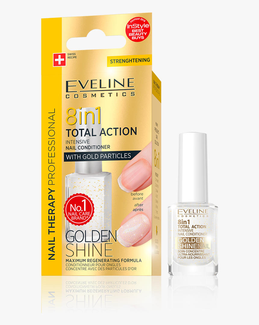 Eveline Cosmetics 8 In 1 Intensive Nail Conditioner, HD Png Download, Free Download