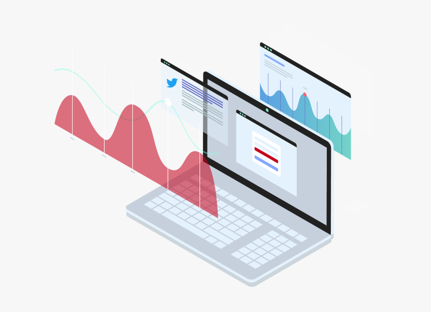 Laptop And Charts - Analytics Isometric, HD Png Download, Free Download