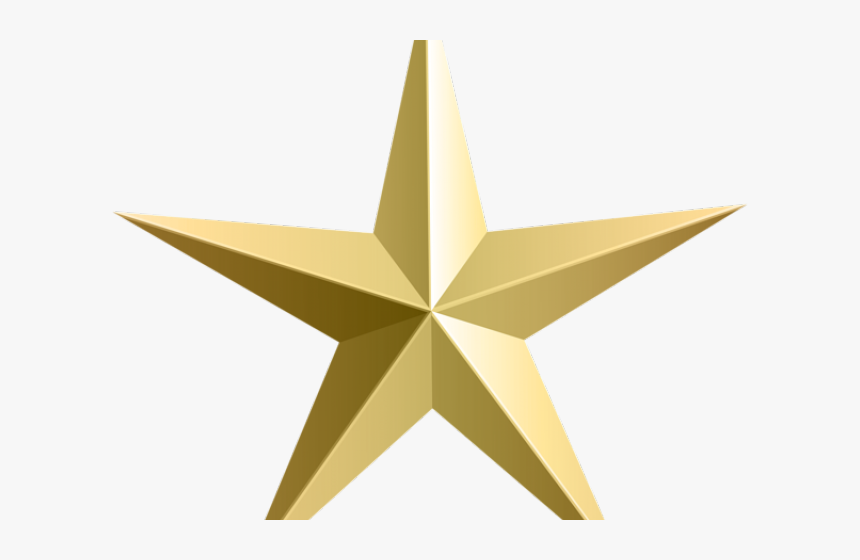 Bronze Clipart Rustic Star - Clear Background Gold Star, HD Png Download, Free Download
