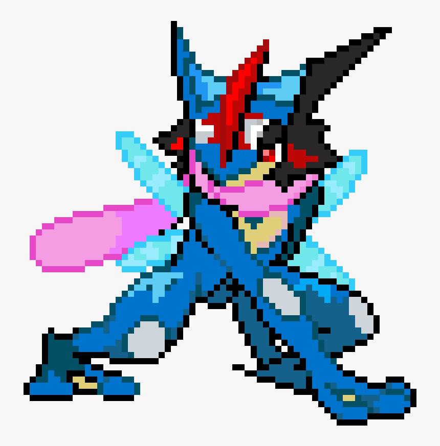 Pokemon Ash Greninja Sprite , Png Download - Pixel Art Pokemon Greninja, Transparent Png, Free Download