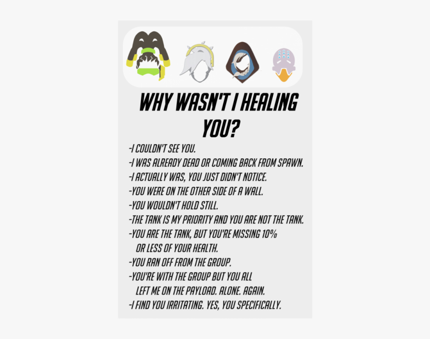 Bees Stuff - Wasn T Healing You Overwatch, HD Png Download, Free Download