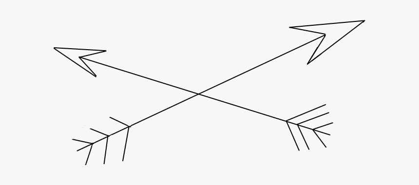 #flecha #arrow #tumblr #black&white - Line Art, HD Png Download, Free Download