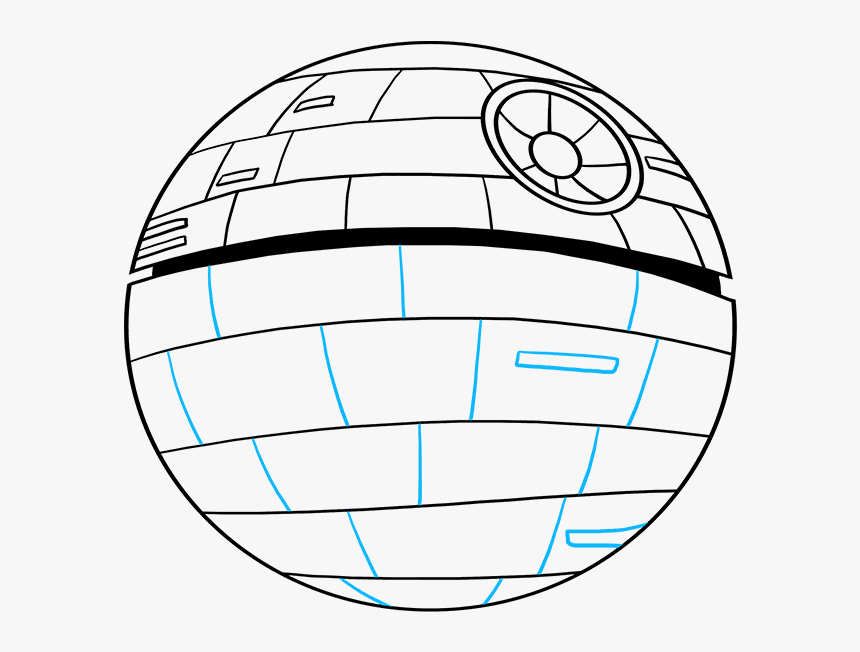 How To Draw Death Star From Star Wars - Sphere, HD Png Download, Free Download