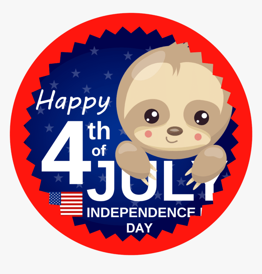 Baby Sloth 4th Of July T-shirt - Independence Day Of The Usa, HD Png Download, Free Download