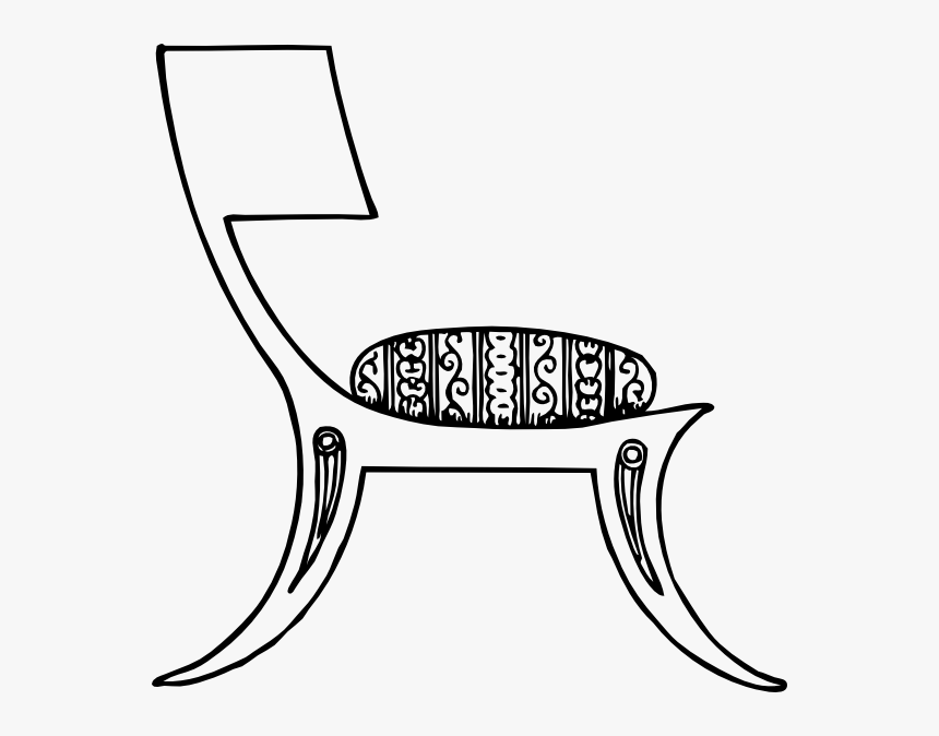 Greek Chair Svg Clip Arts - Ball In The Chair Clip Art Black, HD Png Download, Free Download