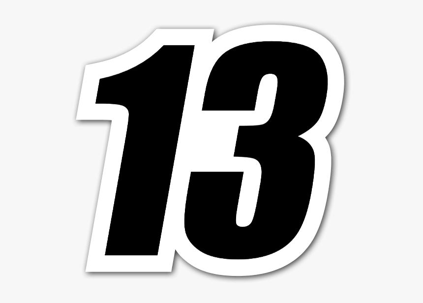Racing 13 Sticker - 13 Sticker, HD Png Download, Free Download