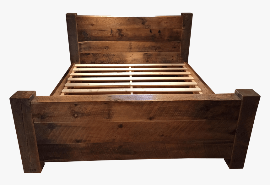 Chandos Reclaimed Barn Wood And Beam Platform Bed - Bed Frame, HD Png Download, Free Download