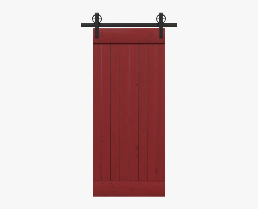 Red Painted Barn Door - Plank, HD Png Download, Free Download