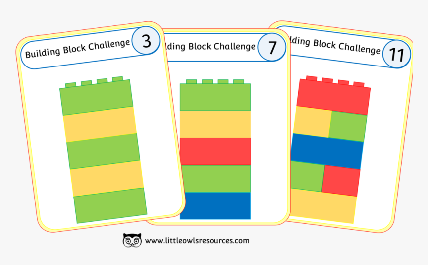 Building Block Challenge Cover - Building Blocks Pattern Cards, HD Png Download, Free Download