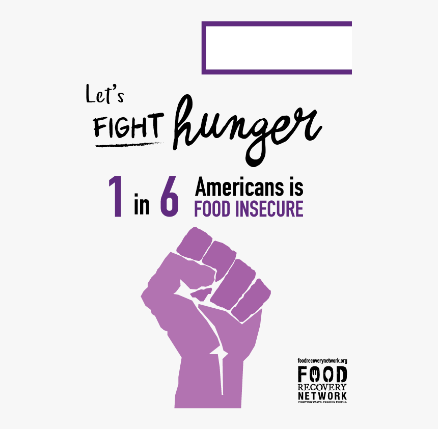 Fight Hunger Bw - Poster, HD Png Download, Free Download