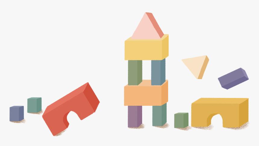 Hand Painted Cartoon Building Blocks - Cartoon Building Blocks Transparent, HD Png Download, Free Download
