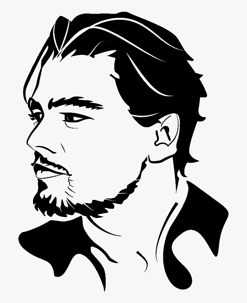 Portrait Clip Art Leonardo - Vector Black And White Portrait, HD Png Download, Free Download