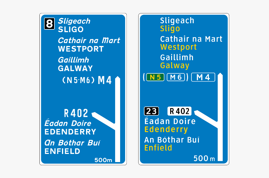 Road Signs In Ireland, HD Png Download, Free Download