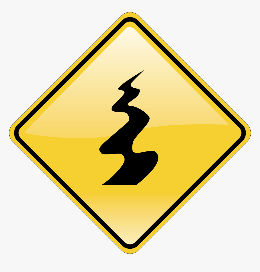 Slippery Surface Road Sign, HD Png Download, Free Download