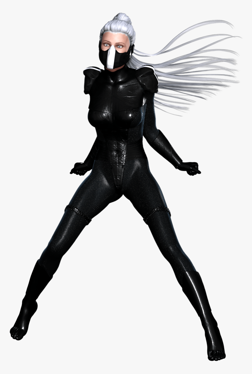 Woman Ninja Black Leather Suit - Spider Man New Black Suit, HD Png Download, Free Download