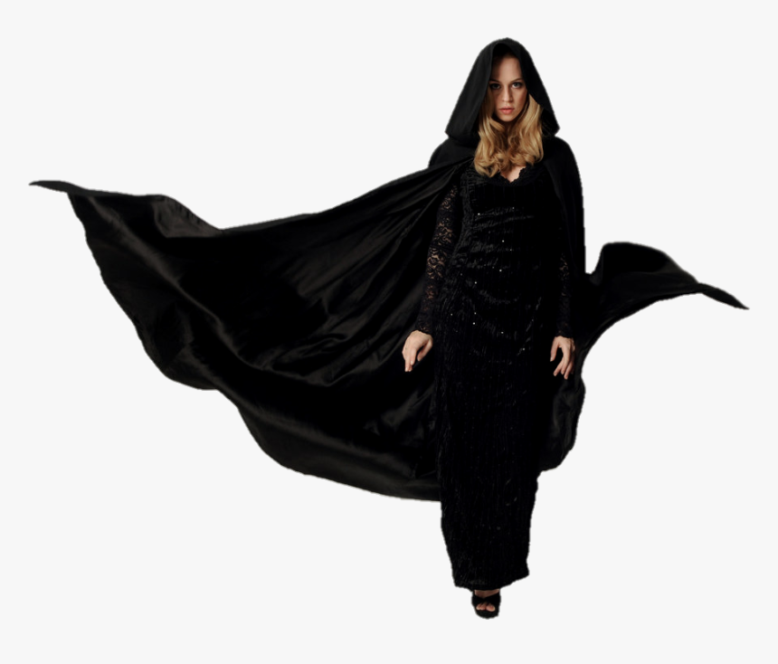 #witch #cloak #hooded #woman #lady #blonde #girl #beautiful - Girl In Cloak Png, Transparent Png, Free Download