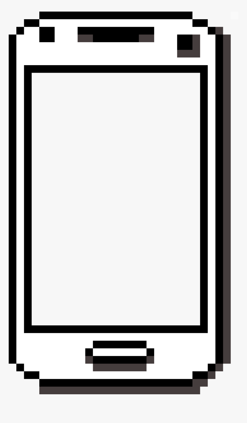 Transparent Phone Pixel Art - Phone Pixel Art Png, Png Download, Free Download