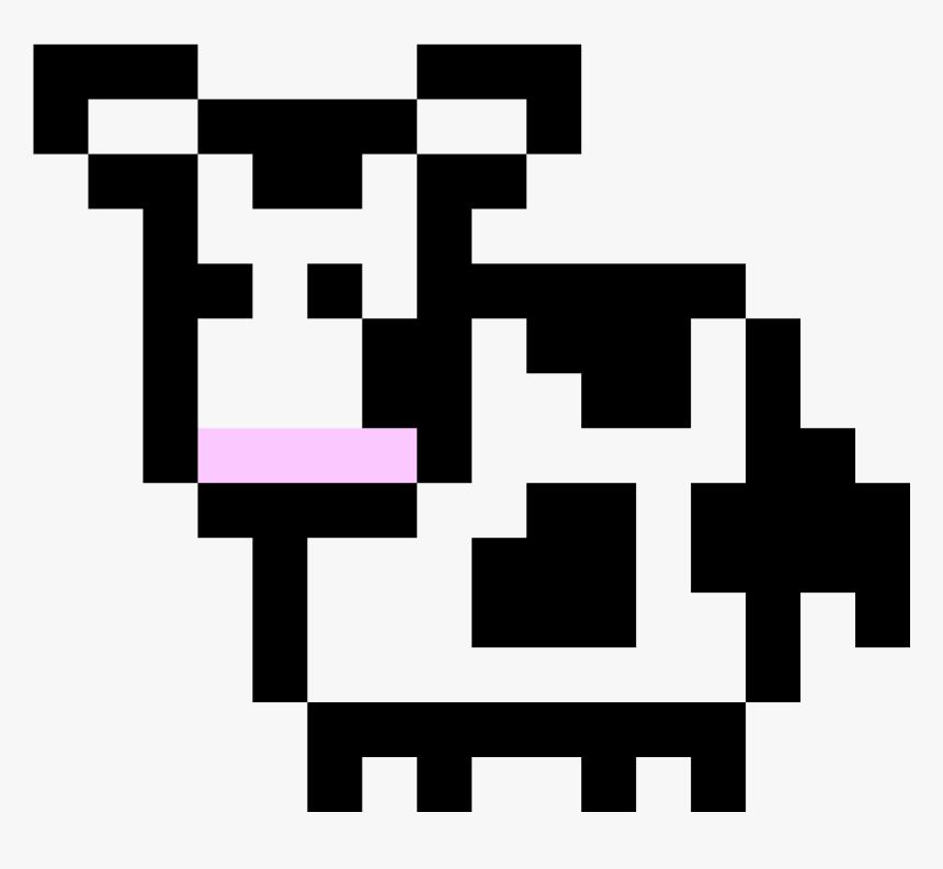 Clip Art Cow Pixel Art - Pixel Art Cow, HD Png Download, Free Download