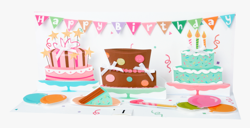 Pop-up Panoramics Greeting Card - Birthday Party, HD Png Download, Free Download