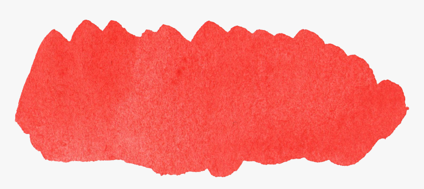 Watercolor Brush Transparent & Png Clipart Free Download - Red Png Watercolor Stain, Png Download, Free Download