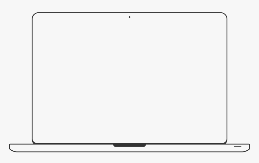 Transparent White Box Outline Png - Macbook Outline Png, Png Download, Free Download