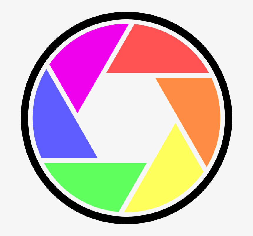 Button, Camera, Design, Digital, Film, Graphic, Icon - Camera Logo Color Png, Transparent Png, Free Download