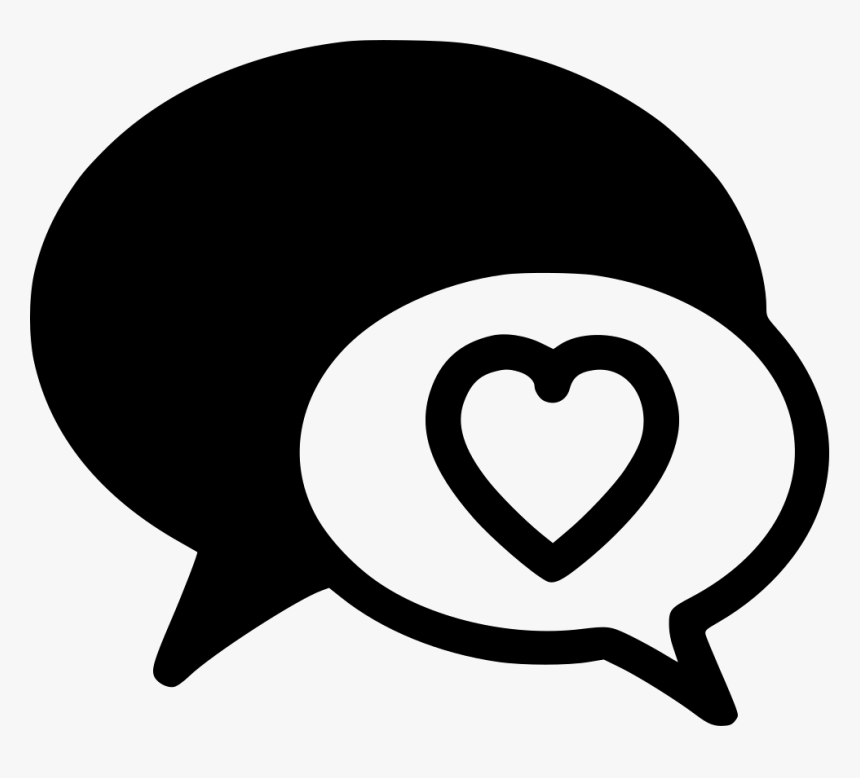 Love Chat Conversation - Message Love Icon Png, Transparent Png, Free Download