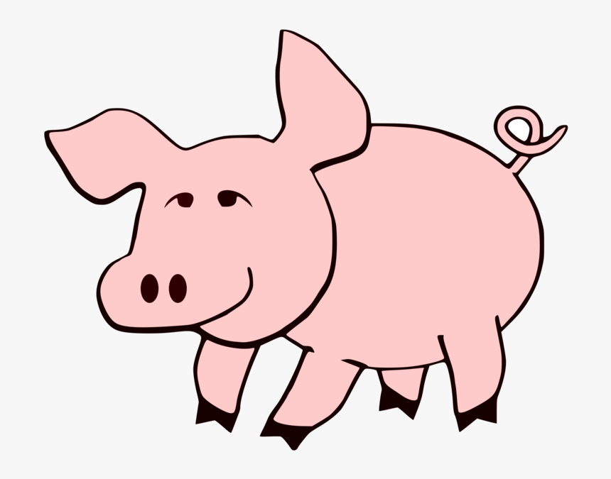 Pink Wildlife Animal Figure Printable Farm Animals Clipart Black And White Hd Png Download Kindpng