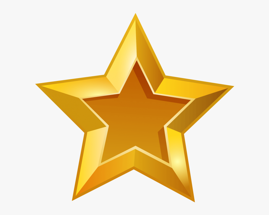 Transparent Glowing Star Clipart - Gold Star No Background, HD Png Download, Free Download