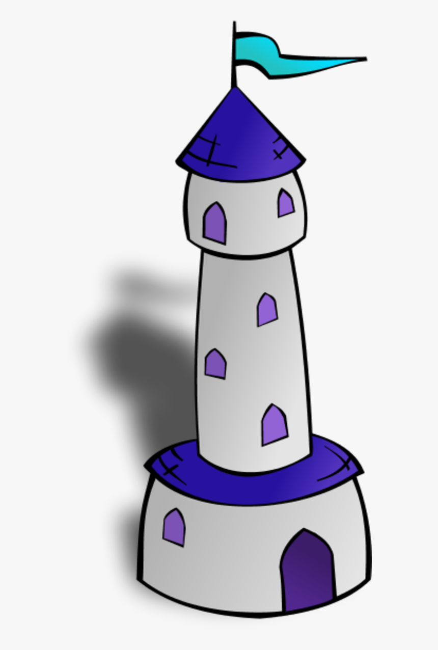 Castle Watch Tower Outline - Tower Clipart, HD Png Download, Free Download
