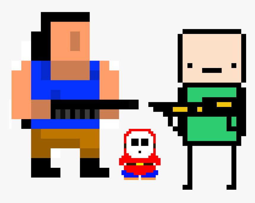 Transparent Hands Up Png - Fat Person Minecraft Pixel Art, Png Download, Free Download