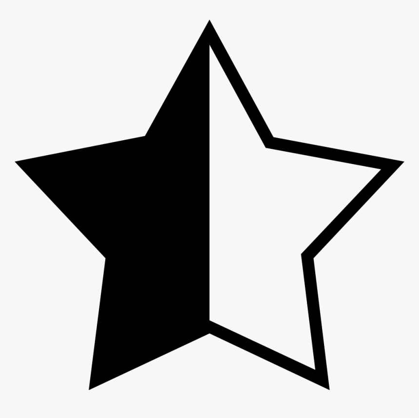 A Half Star Rating Comments - Rating Star And Half Star Png, Transparent Png, Free Download