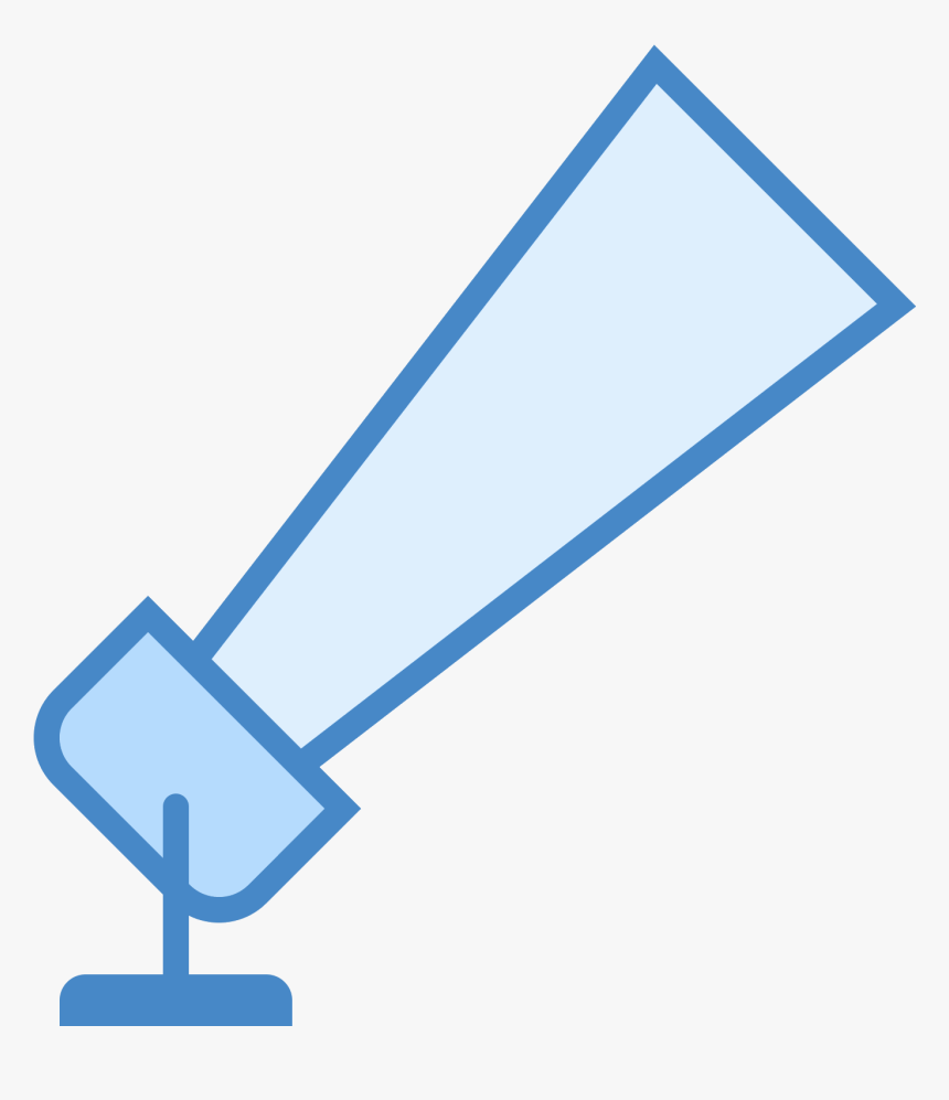 Two Diagonal Lines Are Drawn - Searchlight Icon, HD Png Download, Free Download