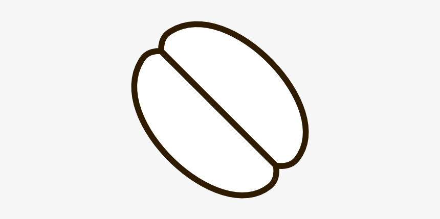 Coffee Bean Clipart Black And White - Coffee Bean Clipart White, HD Png Download, Free Download