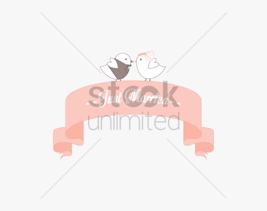 Just Married Banner Vector Gr - Cartoon, HD Png Download, Free Download