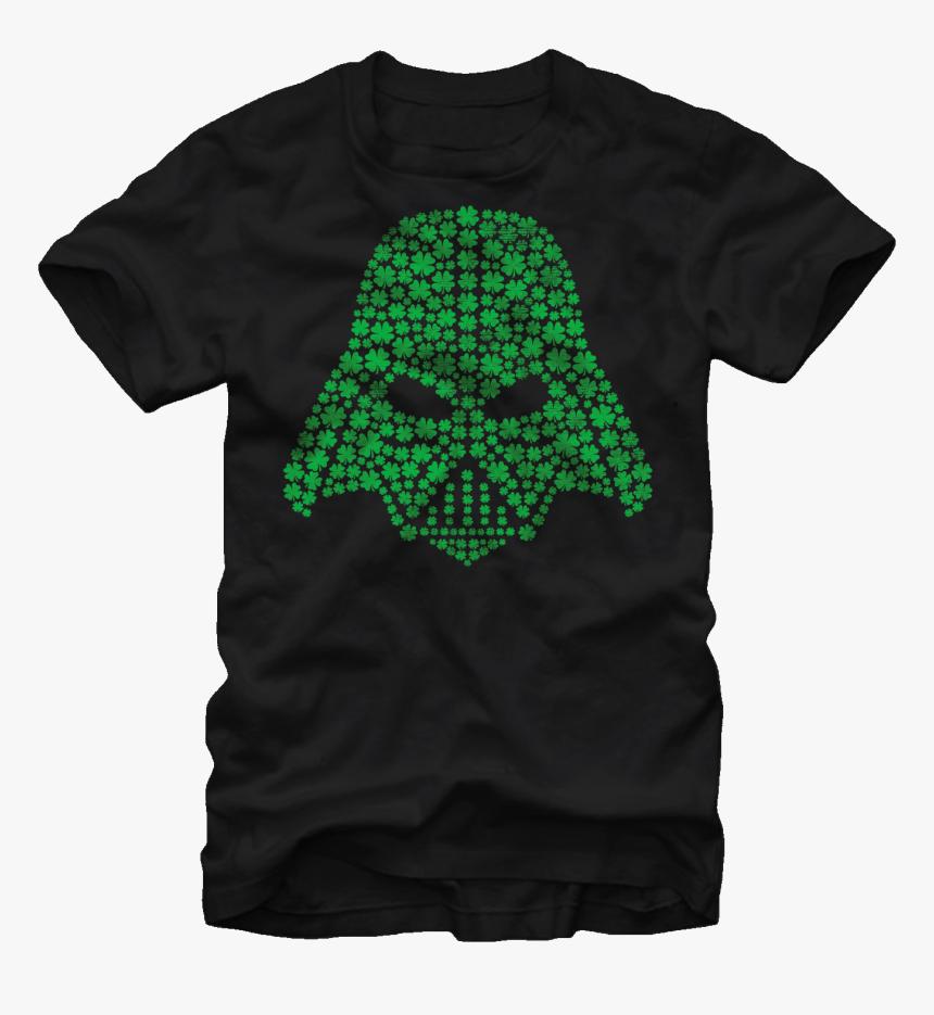 Shamrock Vader Helmet Star Wars T-shirt - C3po T Shirt, HD Png Download, Free Download