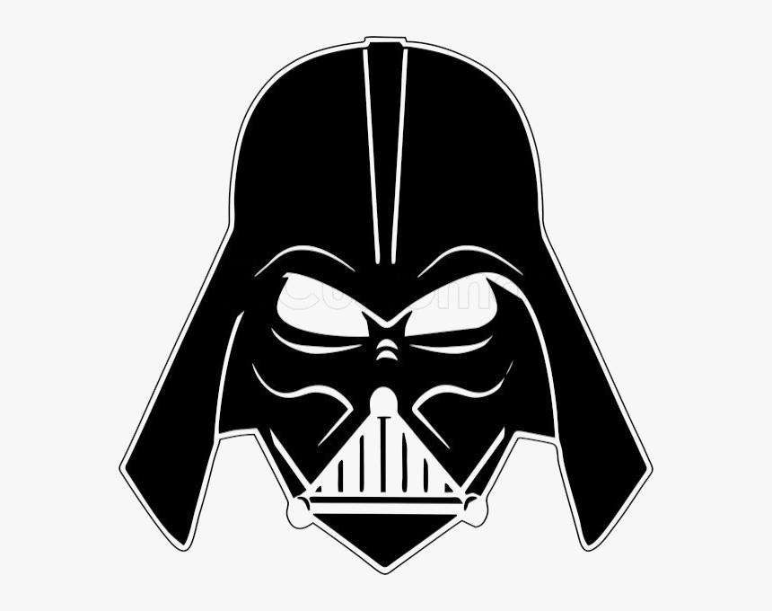 Darth Vader Mask Png Image Background - Darth Vader Face Draw, Transparent Png, Free Download
