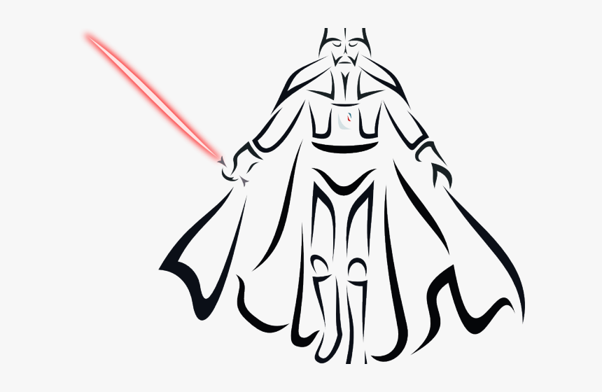 Darth Vader Clipart Hand - Drawing, HD Png Download, Free Download
