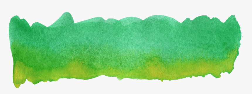Transparent Colorful Banner Png - Dark Green Watercolor Png, Png Download, Free Download
