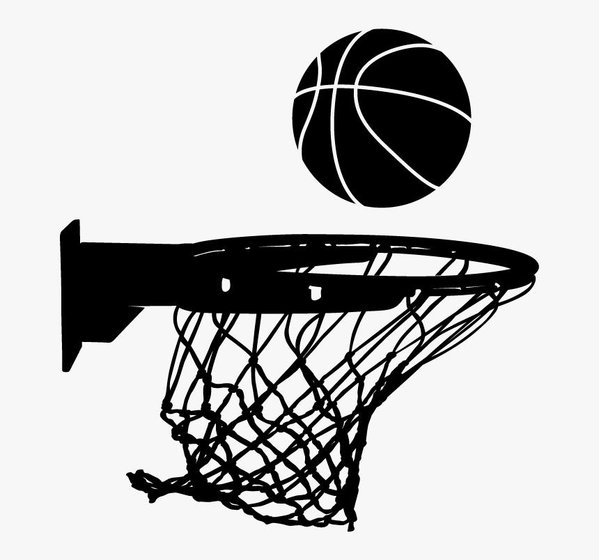 #vector #basketballnet #basketball #freetoedit - Silhouette Basketball Hoop Clipart, HD Png Download, Free Download