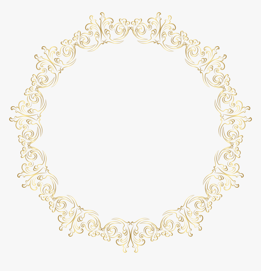 Pin Art Deco Frame Clipart - Borders Designs In Golden, HD Png Download, Free Download