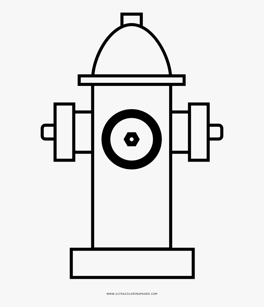 Fire Hydrant Coloring Page - Shake Hands Line Icon, HD Png Download, Free Download