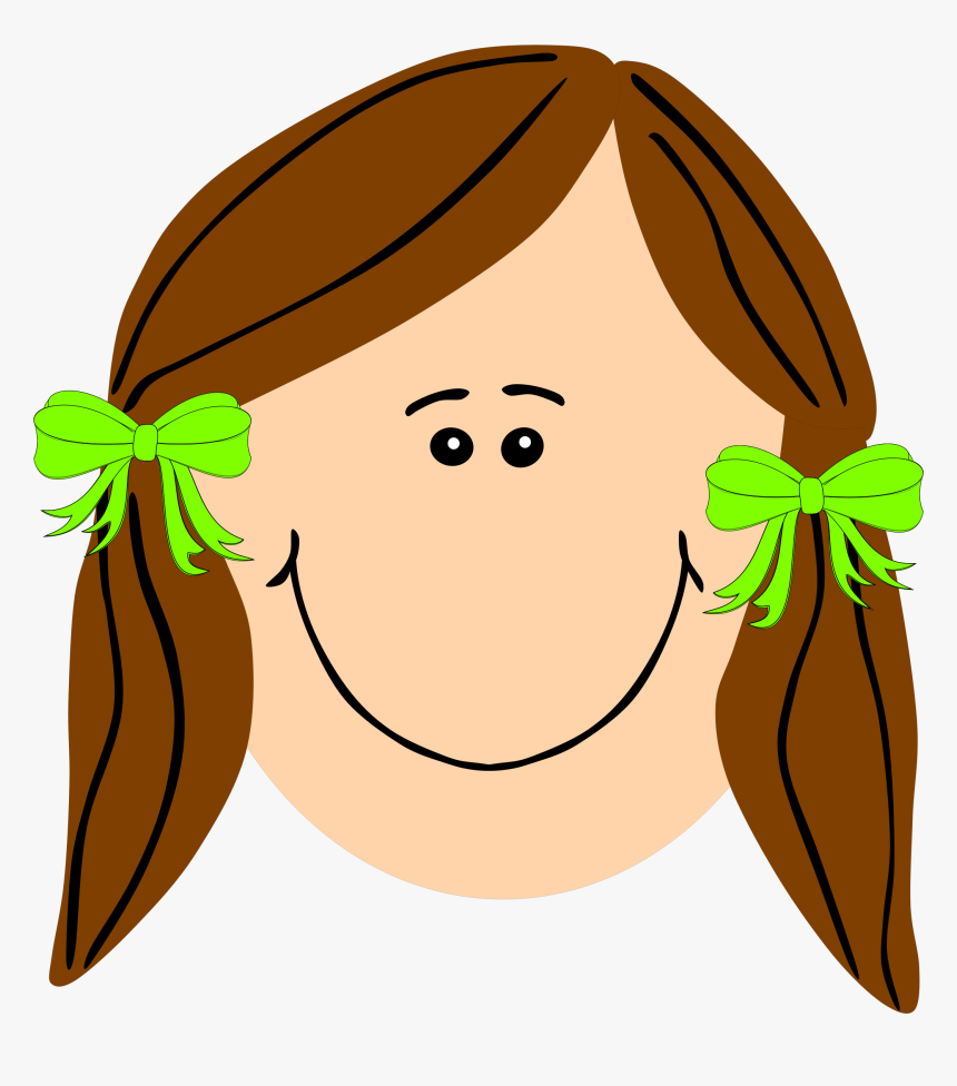 Hd Of Straight And - Girl Cartoon Straight Hair, HD Png Download, Free Download