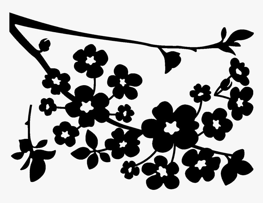 Cherry Blossom Paper Coloring Book - Cherry Blossom Clip Art ...