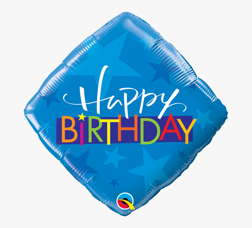 18 Inch Happy Birthday Blue Stars Foil Balloon - Balloon, HD Png Download, Free Download