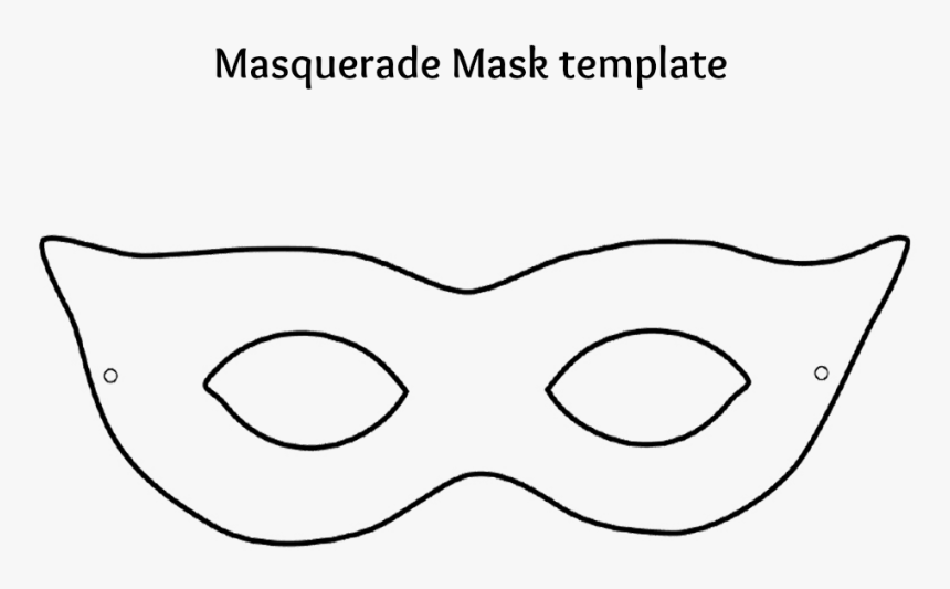 Mask Clipart Black And White, HD Png Download, Free Download